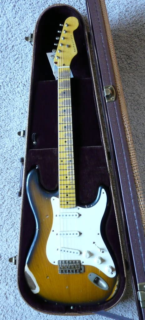 Boat Neck Guitar by Sold Bill Nash S 57 Two Tone Clapton Brownie Boat Neck