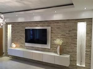 Ideen Tv Wand : die besten 10 ideen zu steinwand wohnzimmer auf pinterest ~ Lizthompson.info Haus und Dekorationen