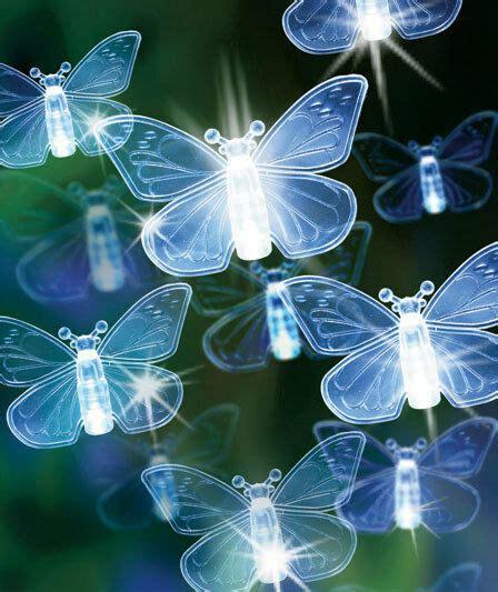 Butterfly String Lights by 80 Light Butterfly Solar Powered String Lights Yard Garden