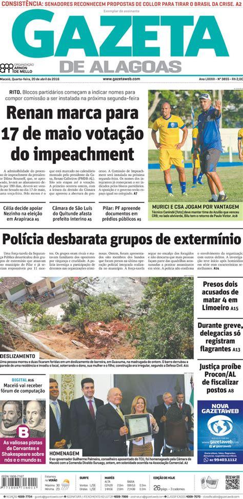 Gazeta de Alagoas deixa de circular depois de 84 anos ...