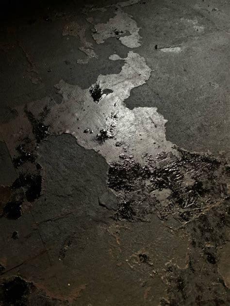 professional asbestos abatement contractor left mastic tiles