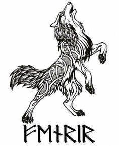 Tatouage Loup Celtique : fenrir la terreur des ases loup tatouage nordique tatouage scandinave et tatouage celtique ~ Farleysfitness.com Idées de Décoration