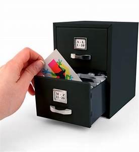 Business card file cabinet in desk accessories for Business card files
