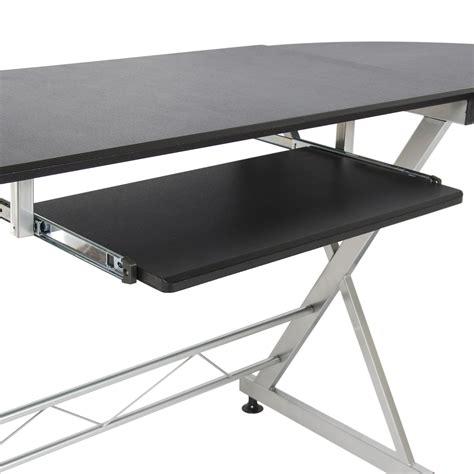 wood table l wood l shape corner computer desk pc laptop table