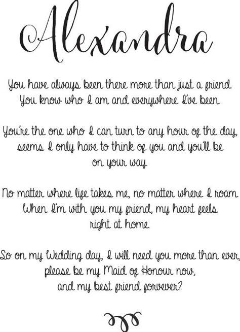 maid  honour  bridesmaid poem  charlesandwalter