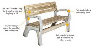 2x4 basics anysize bench chair kit sand 90134 ebay