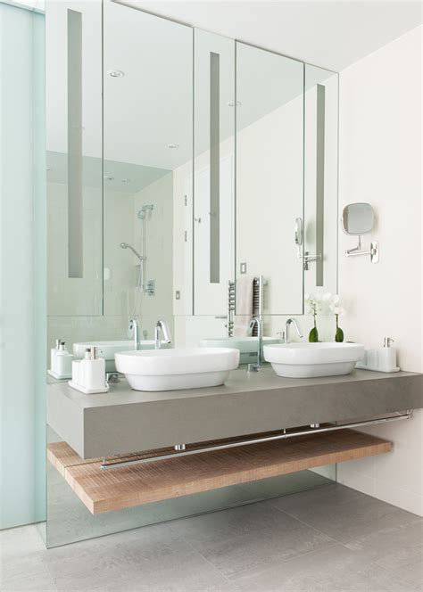 Ensuite Bathroom Sinks by His And Hers Sinks Ideas Bathroom Contemporary With