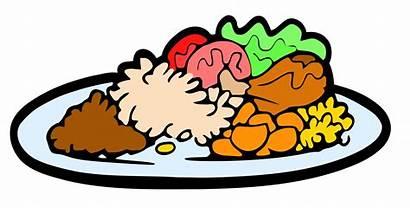 Dinner Plate Clipart Meal Cartoon Clip Vector