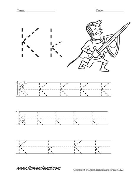 letter k worksheet tim s printables