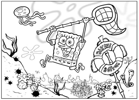 Coloring Pages From Spongebob Squarepants Animated