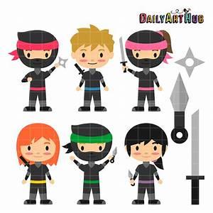 Ninja Kids Clip Art Set – Daily Art Hub – Free Clip Art ...