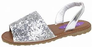 Girls Glitter Menorcan Sandals Sparkly Party Wedding Shoes