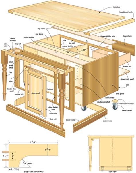 kitchen island woodworking plans woodshop plans