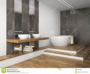 Salle De Bain Sur Plancher Bois Salle De Bain Orange Et Bois - Plancher bois salle de bain