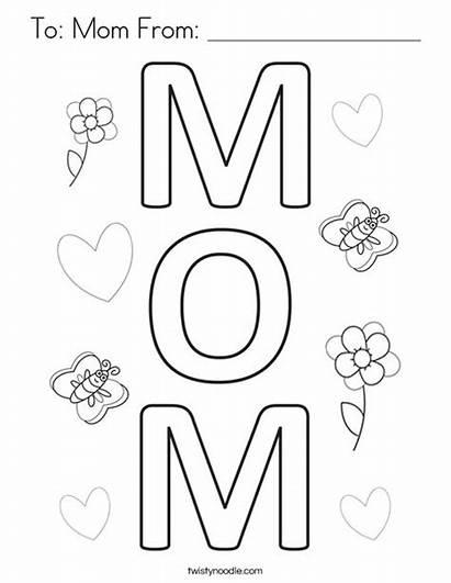 Coloring Mom Pages Mother Letter Noodle Login
