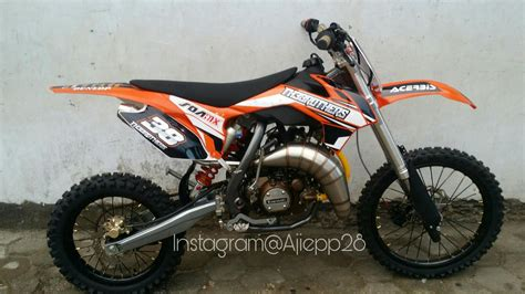 Jual Motor Modifikasi Trail by 87 Modifikasi Motor Trail Kawasaki Modifikasi Trail