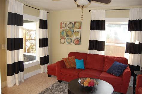 diy painted striped curtains yes i painted my curtains corner window curtain striped curtains living room curtain menzilperde