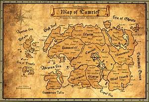 Ancient Map of Tamriel by AndrewScrolls on DeviantArt