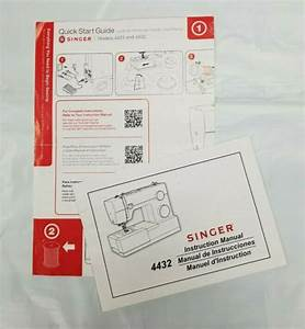 Original Singer 4432 Sewing Machine Instruction Manual And