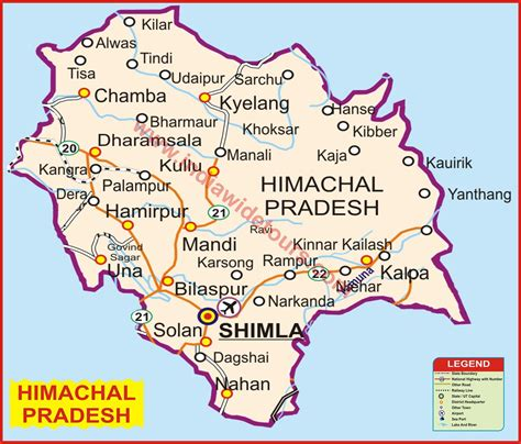 himachal map  india tourist map  india map