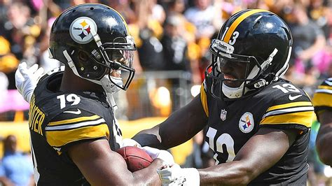 steelers depth chart  pittsburgh   strong options  replace antonio brown