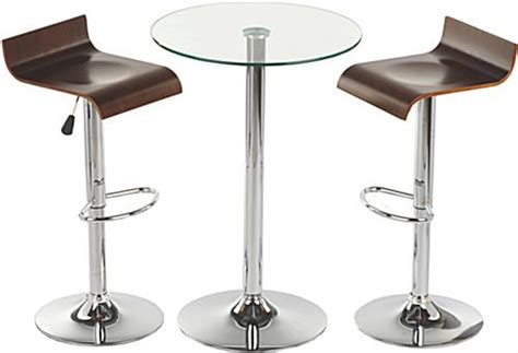 this glass high top table and chairs is modern furniture