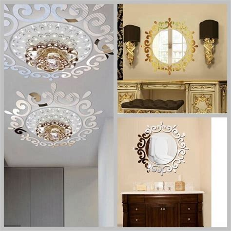 Mirror Stickers Bathroom by Mirror Floral Wall Stickers Decal Mural Removable Home