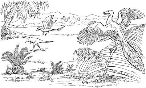 Flugsaurier Mit Pflanzen Ausmalbild & Malvorlage (tiere