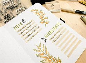 Welches Klebeband Zum Abkleben : gestempelte ziele highlights seite im bullet journal diy mit felicitas papierprojekt blog ~ Eleganceandgraceweddings.com Haus und Dekorationen