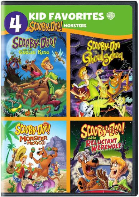 Barnes And Noble Dvd by 4 Kid Favorites Scooby Doo Monsters 883929535958 Dvd
