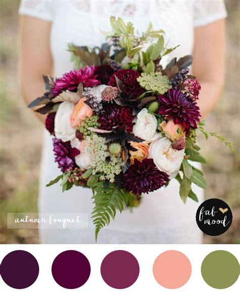 magnificent autumn wedding bouquets purple wedding