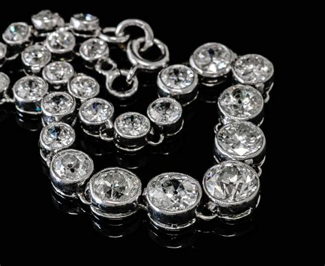 bijoux anciens d 233 co bracelet 171 rivi 232 re 187 en platine et brillants d 233 co
