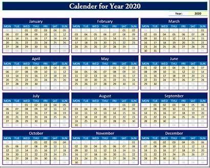 Calendar Excel Dynamic Fully Leave