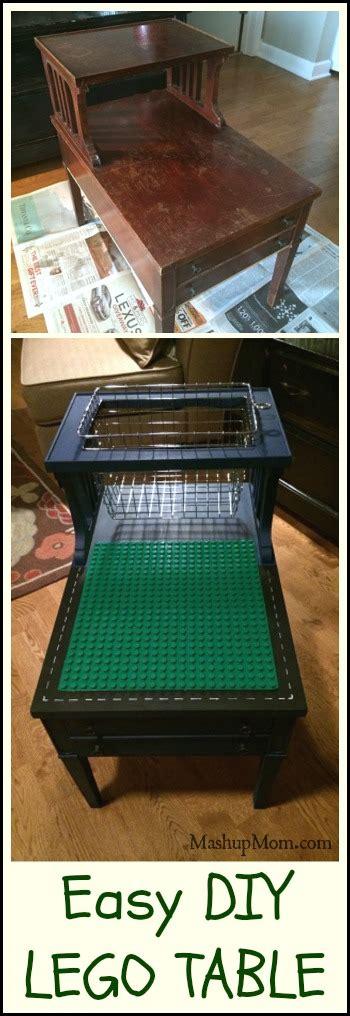 easy diy lego table  duplo    basket