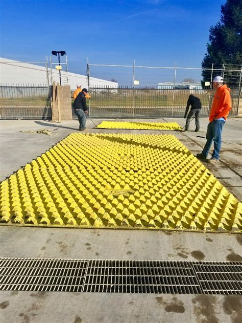 Mat Site - fods system used to stops trackout from industrial