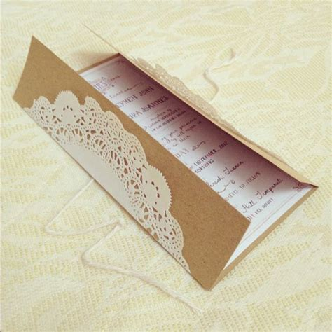 lace wedding invitation diy with instructions love the