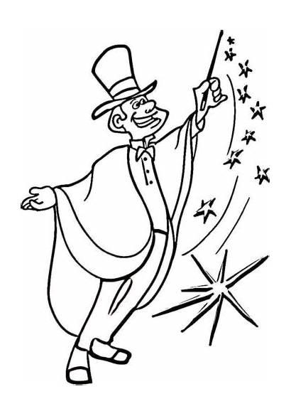 Coloring Magic Magician Circus Pages Colouring Printable