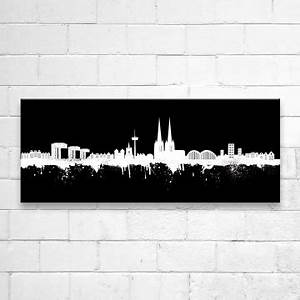 Leinwand Köln Skyline : kunstbruder leinwand k ln skyline schwarz ~ Sanjose-hotels-ca.com Haus und Dekorationen