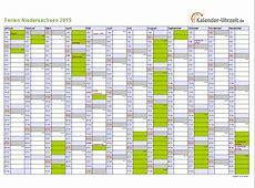 Ferien Niedersachsen 2015 Ferienkalender zum Ausdrucken