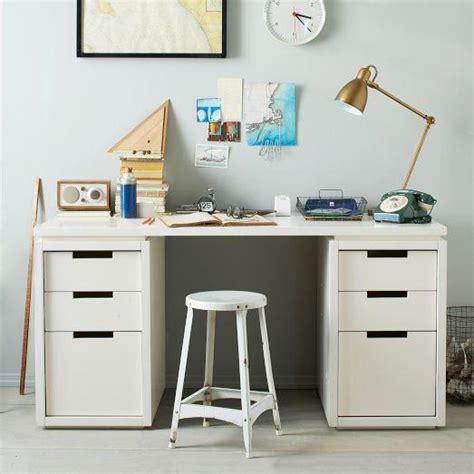 west elm office desk modular office basic desk set white west elm