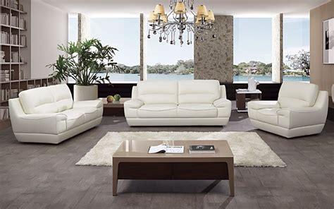 3 Living Room Set 1000 by 3 Pc Modern White Italian Top Grain Leather Sofa Loveseat