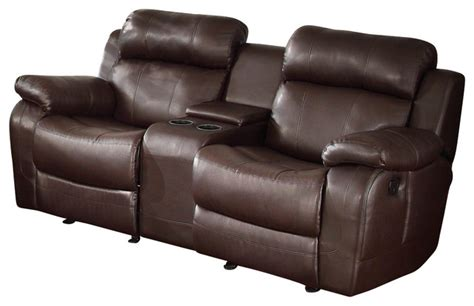 Dual Glider Reclining Loveseat by Homelegance Marille Glider Reclining Loveseat With