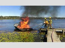Fire destroys boat on Bass Lake, causes fuel spill
