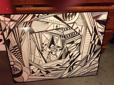 Abstract Black Marker by Abstract Sharpie Drawing By Lindsie