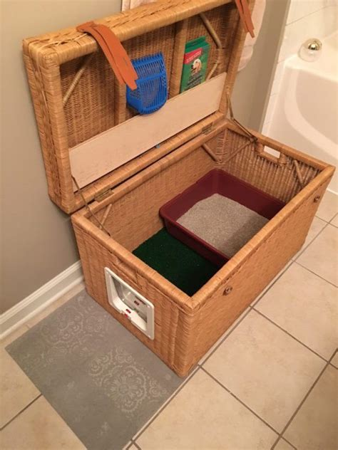 Portable Cat Home Made From Simple Wicker Chest Life In