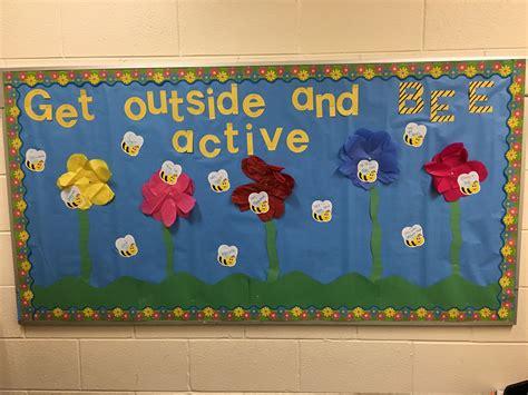 School Nurse Spring Bulletin Board- Bees- Be Active