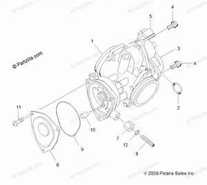 Polaris Atv 2010 Oem Parts Diagram For Engine  Throttle