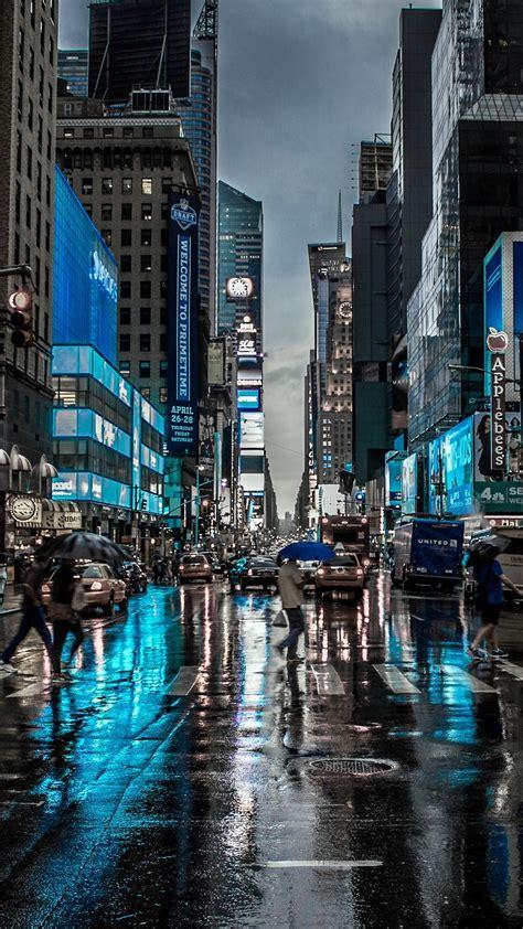 blue night   york city iphone wallpaper