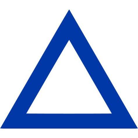 royal azure blue triangle outline icon  royal azure