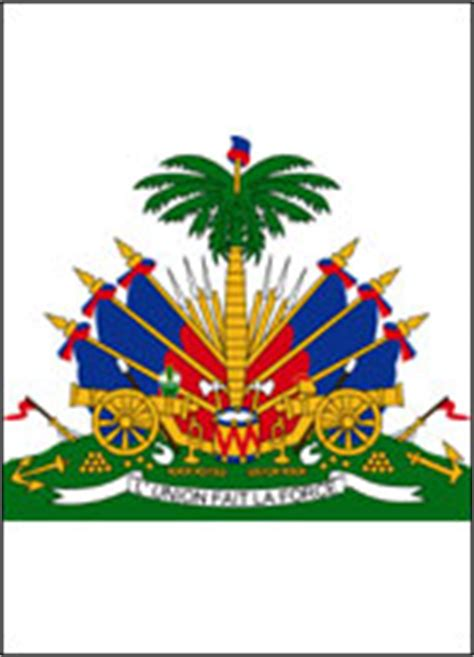 haiti coat  arms coloring page coloring pages